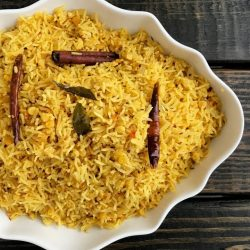 Curried Rice with Red Lentils (Chuti Khichri)